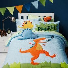 Boys Quilt Covers and Bed Linen from Adairs Kids - Dinosaur Duvet, Linen Bedding, Bed Linen, Dinosaur Projects, Adairs Kids, Boy Quilts, Kid Beds, Quilt Cover, T Rex