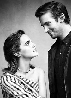 Emma Watson and Dan Stevens photographed by Art Streiber for Attitude UK (2017)