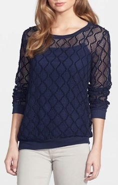 royal blue lace sweater http://rstyle.me/n/p83pzr9te
