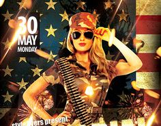 "Check out new work ""Memorial Day PSD Flyer Template""  #patriptic #day #memorial #event #party"