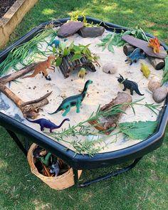 Tuff spots for around a tenner. Backyard Play, Backyard For Kids, Backyard Games, Backyard Ideas, Eyfs Outdoor Area, Outdoor Play Spaces, Outdoor Games, Dinosaur Garden, Dinosaur Land