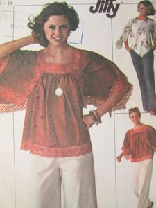 See Sally Sew-Patterns For Less - Butterfly Pullover Tops Vintage Simplicity 7569 Sewing Pattern Sz. 12 - 14, $8.99 (http://stores.seesallysew.com/butterfly-pullover-tops-vintage-simplicity-7569-sewing-pattern-sz-12-14/)