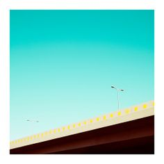 """Nothing but blue skies from Matthias Heiderich in his photo series """"West"""" with striking, architectural images of Berlin."""
