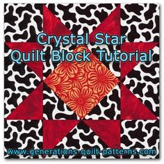 Our Crystal Star quilt block tutorial has direction for five different block sizes. One of the many blocks to choose from in our Quilt Block Patterns Library.