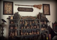 Perfect witches decor by Halloween Forum member StacyN