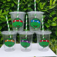 Set of 16  Ninja Turtle Cups Ninja Turtle PopCorn by HelloFaith