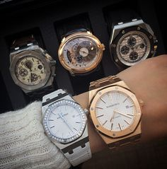 Contemporary, stylish and sporty, here are our favorite Audemars Piguet men's and women's fine timepieces. Explore the artistry of Audemars Piguet at the Watch Salon of London Jewelers Americana Manhasset. #londonjewelers #instawatch #wotd #audemarspiguet #americanamanhasset #style #fashion #watches #watchesofinstagram #fashionista #love #watchlovers #picoftheday #watchlife