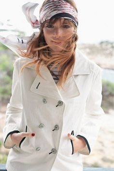 Fresh Nautical Style - love the headscarf ... more #fashion: http://pinterest.com/mtfashional/