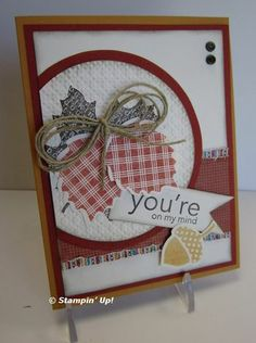 Wonderfall stamp set and the coordinating Autumn Accents Bigz die