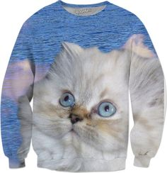 Cat and Water Sweatshirt #rageon #erikakaisersot #sweatshirts #cats