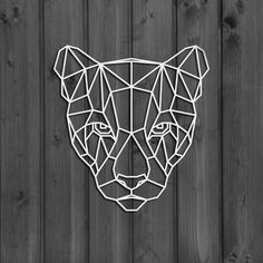 Metal Wall Art Geometric Wild Cat Animal steel Home Decor interior Sign Scandi decor Idea Gift Living Room stencil hanging big lodge – Origami Metal Walls, Metal Wall Art, 3d Zeichenstift, Origami Owl New, Origami Ball, Diy Tableau, Geometric Wall Art, Geometric Lion, Origami Animals