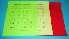 Learning Ideas - Grades K-8: Multiplication Concentration Games