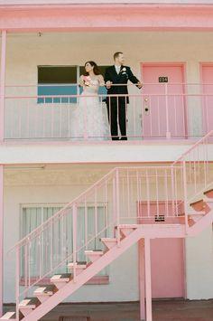 retro - at a pink vegas motel