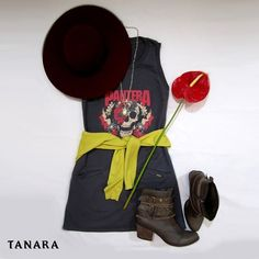 Já que é Dia Mundial do Rock inspiração de look que tem tudo a ver com essa pegada. ;) Boota Tanara ref. T0225