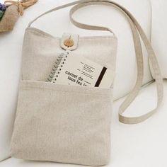 シンプルで合わせやすい!ポケットつき縦長ポシェットの作り方(バッグ) | ぬくもり