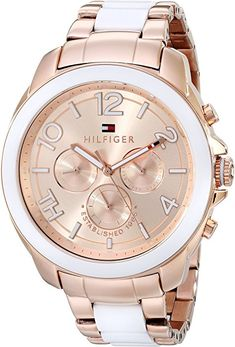 Amazon.com: Tommy Hilfiger Women's 1781393 Rose Gold-Tone Watch: Tommy Hilfiger: Watches