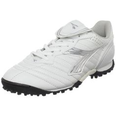 6ad7091f023c Diadora Womens Scudetto LT Turf Soccer FurfWhiteSilverBlack6 M US * Click  on the image for additional