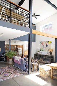 Love the expansive space between the floor and the second storey ceiling