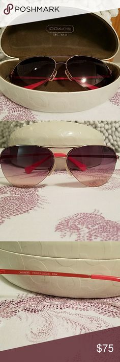 Coach sunglass in pink w/case Coach sunglass in pink w/case Coach Accessories Sunglasses
