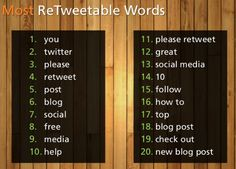 A suggested 10 Twitter tips to achieve an increase in ReTweets ...