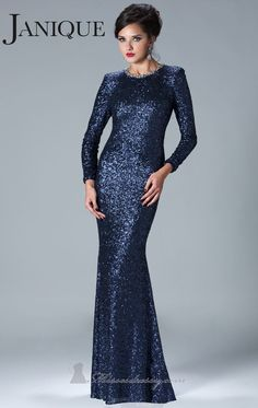 Modern+Evening+Gowns+with+Sleeves   -Modern-Prom-Dresses-High-Collar-Long-Sleeves-Sequins-Mermaid-Evening ...