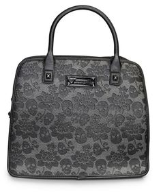 Black Skull Lace Handbag by Loungefly