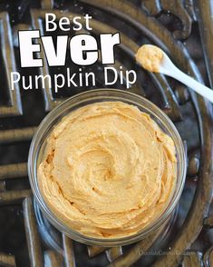 Pumpkin Cheesecake Dip- it's always the first thing to go at parties.