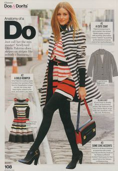 Glamour September 2014 Cute Coats, Black Neck, Thing 1, Glamour Magazine, Black Tights, Olivia Palermo, Call Her, Newlyweds, Style Icons