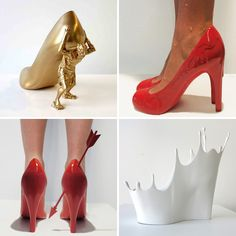 Whoa—check out these 3D printed shoe sculptures.