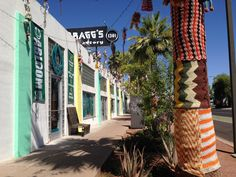 A Step Back In Time – Bragg's Factory Diner Phoenix- yarn bombed!