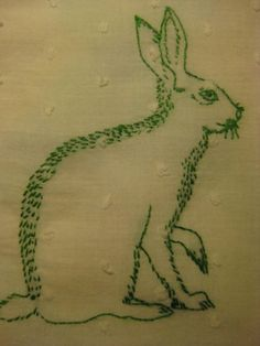Embroidered rabbit.