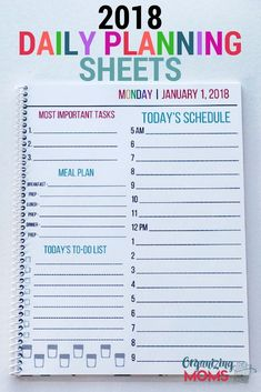 A flexible planner that can change to meet your needs. Daily Planning Sheets are a simple, flexible solution that can help you boost your productivity. #dailyplanningsheets #dailyplan #planner