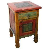 mexican furniture rustic side table
