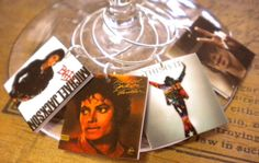 6 Michael Jackson Album Cover Wine Charms for the Music/Wine Lover 'YOUR wine glasses deserve Cool SASSY Jewelry' Fast Shipping on Etsy, $12.00