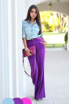 PANTONE Color of the Year 2014 - Radiant Orchid fashion Casual Work Outfits, Work Casual, Cute Outfits, Style Désinvolte Chic, My Style, Casual Chic, Blouse Sexy, Outfits Mujer, Outfit Trends