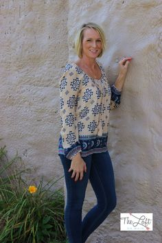 The Loft has two different variations of this pretty peasant style blouse...  #ishoptheloft #fashion #nowtrending #style #ootd #mystyle #boutiquelove #trendy #shopsmall #follow