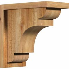 Ekena Millwork 6 in. x 12 in. x 12 in. Western Red Cedar New Brighton Rough Sawn Corbel with Backplate