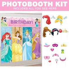 Need Disney Princess Photo Booth Kit for your next party? Find Birthday in a Box for the most wanted & party ideas & reduced prices. Princess Theme Party, Disney Princess Party, Birthday Box, 2nd Birthday Parties, Photo Booth Kit, Party Cups, Get The Party Started, Pirate Party, Party Themes
