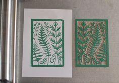 The Fabutineuse Botanical Printing and linocut # 3: Ferns