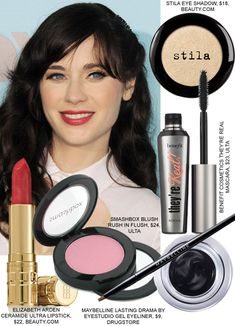 Zooey Deschanel beauty makeup hair new girl. Simple and pretty, yet very classy and good for adorable nerdy look. Get the look!