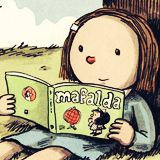 Enriqueta leyendo a Mafalda :D cómo no la voy a amar *-*