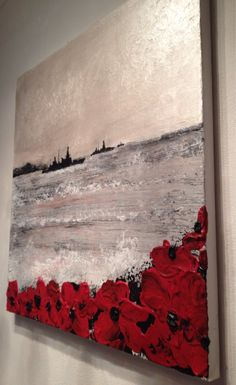 War Poppy Remembrance Soldier Original Painting Expressionism Impressionism Textured Impasto Art on Canvas Signed by PortOutStarboardHome on Etsy Ww1 Art, Remembrance Day Poppy, Original Paintings, Original Art, Texture Art, Teaching Art, Artist Art, Contemporary Paintings, Beautiful Paintings
