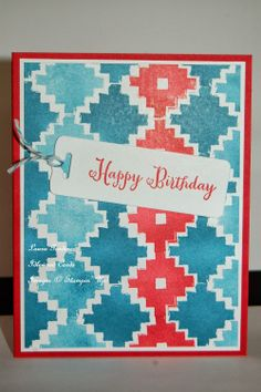 Eye-catching Ikat photopolymer stamps from Stampin' Up!