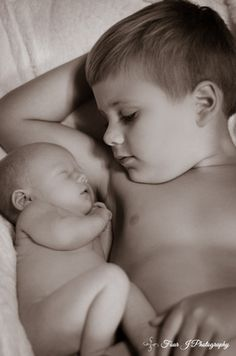 Newborn with sibling photo idea. Four J Photography