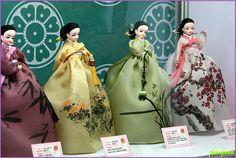 Dolls wearing Korean costume #Hanbok