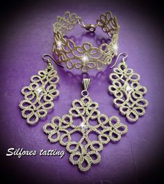 Tatting Necklace, Tatting Jewelry, Crochet Necklace, Needle Tatting, Tatting Lace, Shuttle Tatting Patterns, Hairpin Lace, Lace Making, Crochet Accessories
