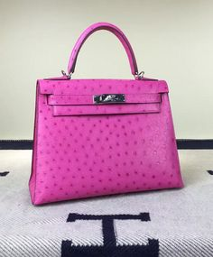 Hermes 28cm Ostrich Kelly Bag  Shopping Link in bio    #cheap #handbag #handbags #purse #fashion #followme #hot #style #instagood #beautiful #new #best #summer #2017 #pretty #collection #bagforsale #leather #pink #hermes #hermesbag #kellybag