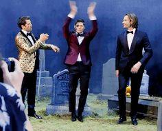 Misha Collins, Jensen Ackles and Jared Padalecki Jensen Ackles, Jensen And Misha, Jared Padalecki, Misha Collins, Benedict Sherlock, Benedict Cumberbatch, Supernatural Actors, Winchester Boys, Art Design