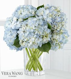 FTD® proudly presents the Vera Wang Joyful Inspirations™ Bouquet. The uplifting color of the skies are set to brighten their day with fresh radiance with this bouquet of light blue hydrangea simply set in a modern clear glass vase to create an expression of your warmest sentiments. GOOD bouquet includes 4 stems.