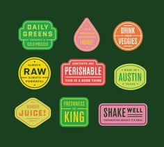 Karl Hebert, Daily Greens stickers